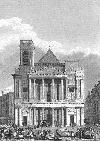 Associate Product PARIS. Eglise St Eustace L'occident. Stalls 1834 old antique print picture