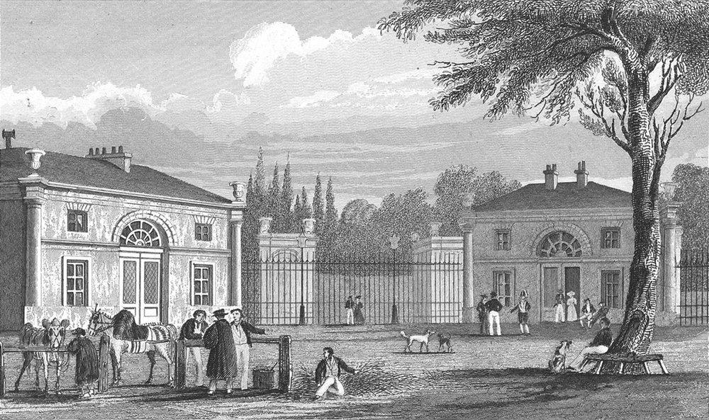 Associate Product FRANCE. Palais de Philippe I Neuilly. Pugin Paris 1834 old antique print