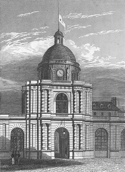 PARIS. Entree Palais Luxembourg. figure 1828 old antique vintage print picture