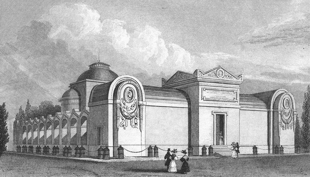 Associate Product PARIS. De Chapelle Expiatoire Louis XVI. Pugin 1828 old antique print picture