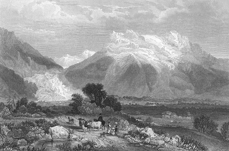 Associate Product SWITZERLAND. Grindelwald. Swiss. Fullarton-Finden 1850 old antique print
