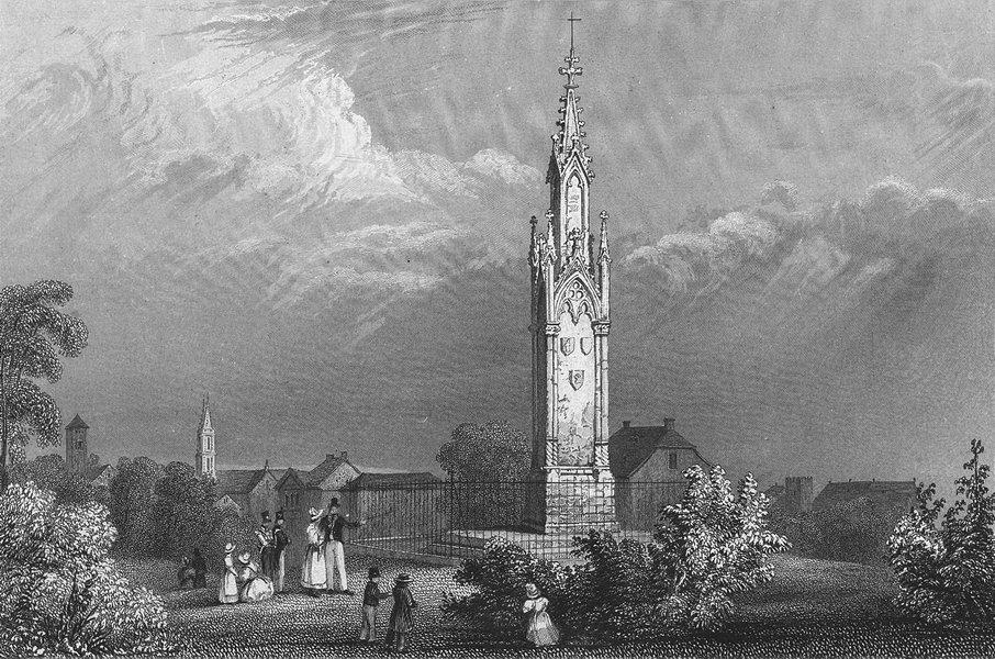 Associate Product BASEL. Mont battle St Jacob. Swiss. monument 1830 old antique print picture