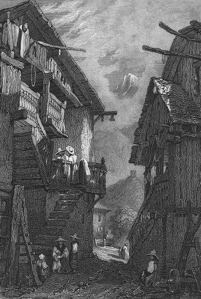 Associate Product LONDON. Swiss Cottage, Lavey. Prout 1830 old antique vintage print picture