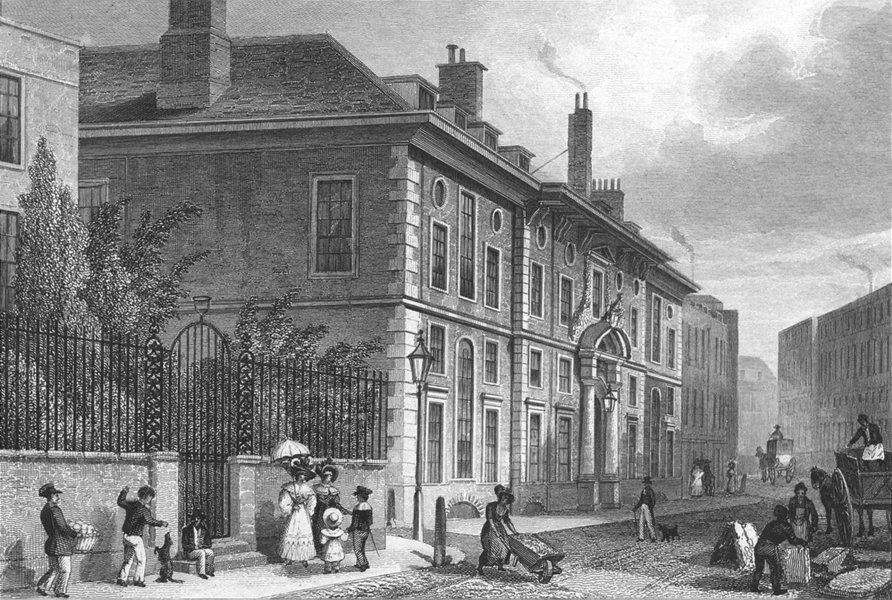 BUILDINGS. Goldsmith's Hall, Foster Lane 1830 antique print picture