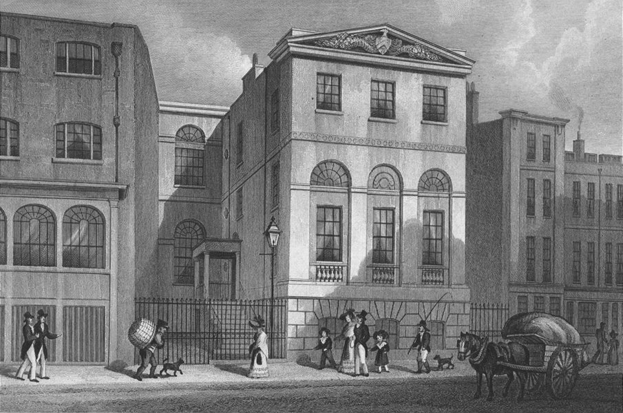 Associate Product BUILDINGS. Cordwainer's Hall, Distaff Lane 1830 old antique print picture