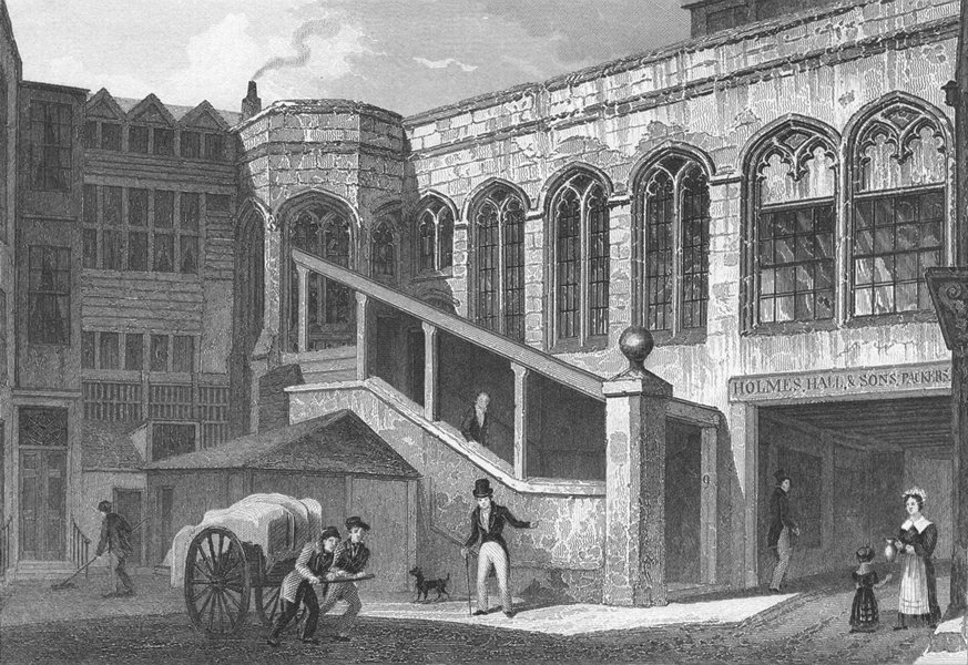 Associate Product LONDON. Crosby Hall, Bishopsgate 1830 old antique vintage print picture