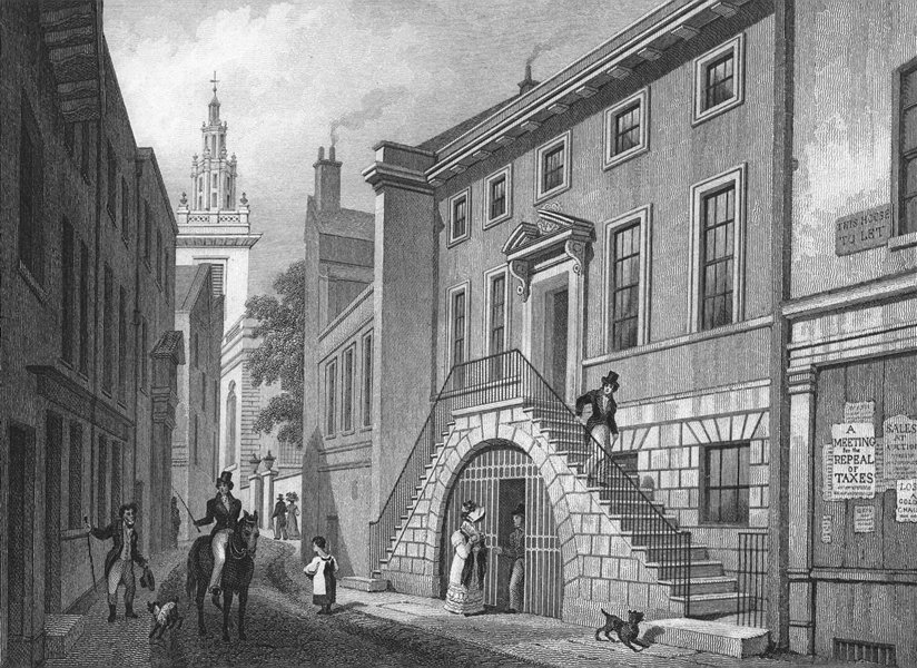 Associate Product BUILDINGS. Dyer's Hall, College Street 1830 old antique vintage print picture