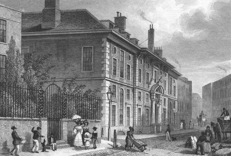 Associate Product BUILDINGS. Goldsmith's Hall, Foster Lane 1830 antique print picture