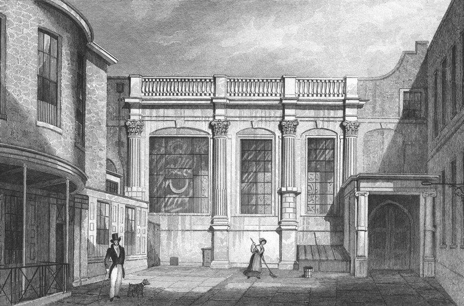 Associate Product LONDON. Clothworker's Hall, Mincing Lane 1829 old antique print picture