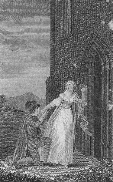 Associate Product ROMANCE. marriage not prevented c1790 old antique vintage print picture
