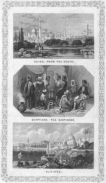 Associate Product EGYPT. Cairo; Egyptians, Bastinado; Algiers c1840 old antique print picture