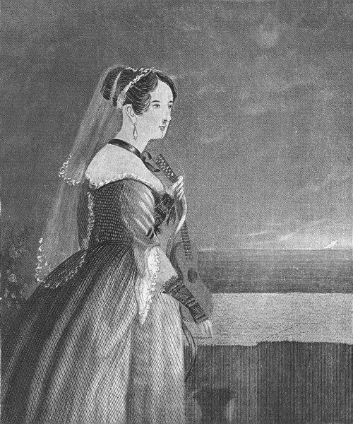 Associate Product MILITARIA. The Sailors Bride c1830 old antique vintage print picture