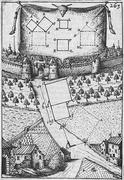 Associate Product DECORATIVE. Liv III de Planimetrie Planche Cix 1702 old antique print picture