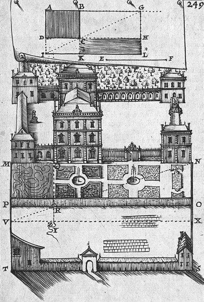 Associate Product CASTLES. Liv III de Planimetrie Planche CIII 1702 old antique print picture