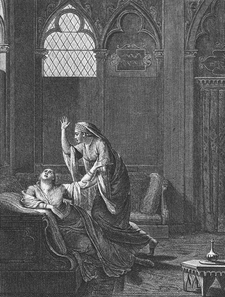 Associate Product PRETTY LADIES. Woman in despair; 2nd c1800 old antique vintage print picture