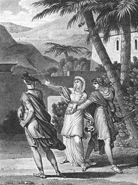 Associate Product ROMANCE. Man & lady 2nd drawing sword c1800 old antique vintage print picture