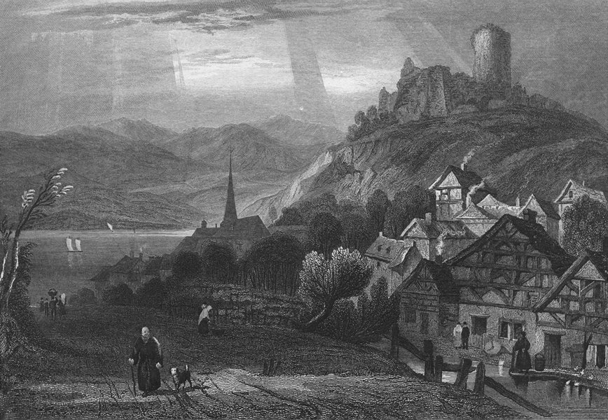 Associate Product GERMANY. Ruins of Keimburg c1840 old antique vintage print picture