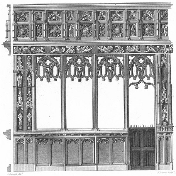Associate Product EXETER CATHEDRAL. Kendall restoration print c1830 old antique picture