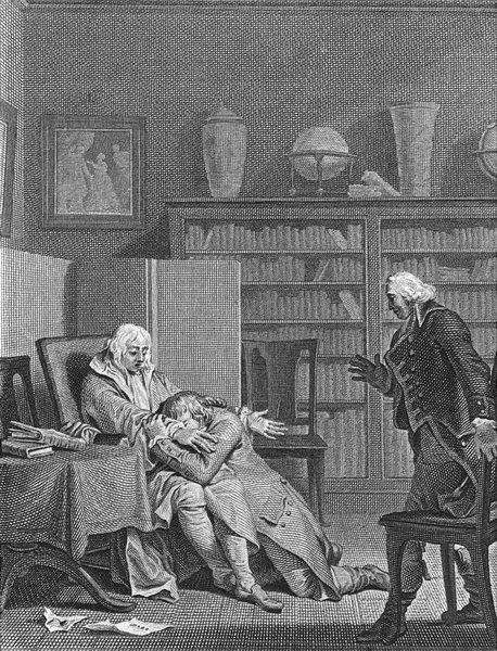 Associate Product FAMILY. fils, souvenez-point bonheur sans vertu 1804 old antique print picture