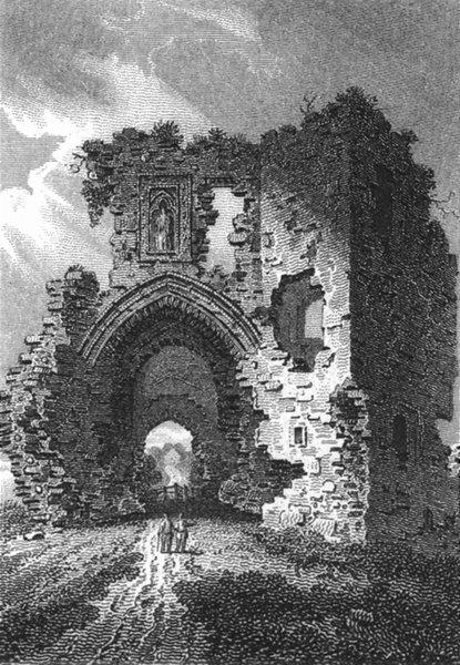 Associate Product WALES. Denbigh Castle Denbighshire 1808 old antique vintage print picture