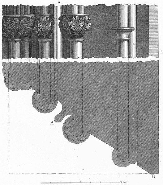 Associate Product ARCHITECTURE. Details columns leaves c1830 old antique vintage print picture
