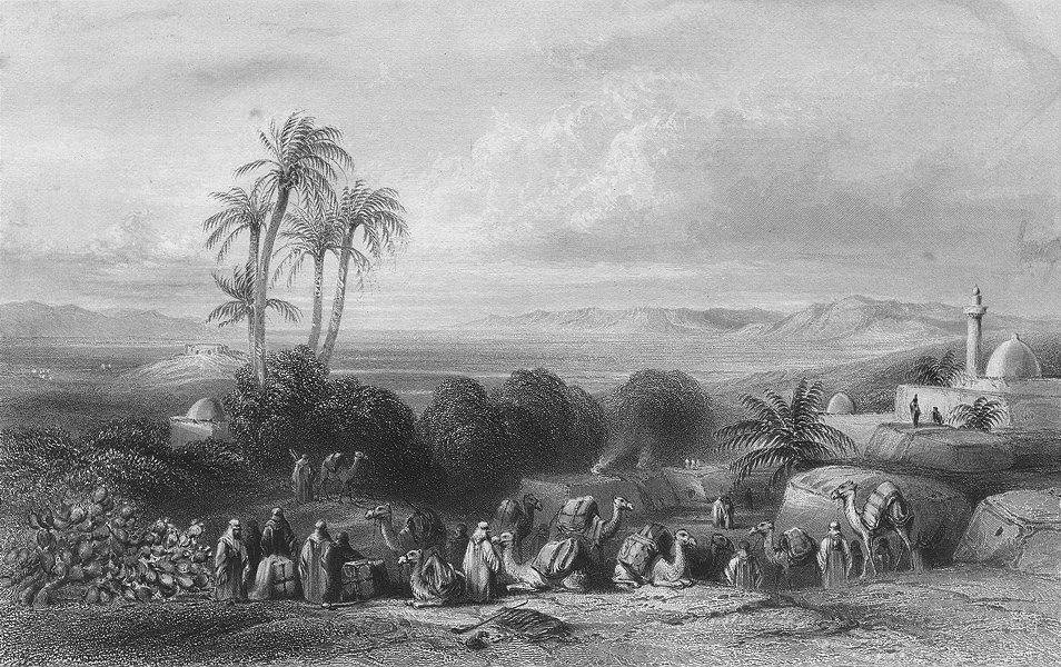 Associate Product ISRAEL. Plain of Esdraelon from Jenin-Bartlett c1840 old antique print picture