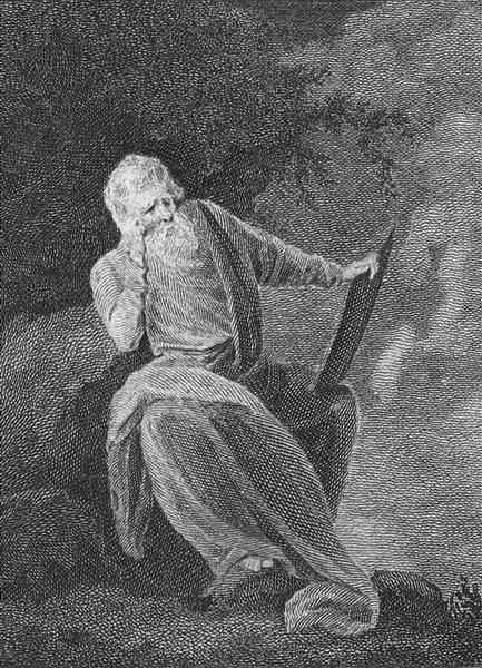 Associate Product PORTRAITS. Man White beard holding tablet 1795 antique print picture