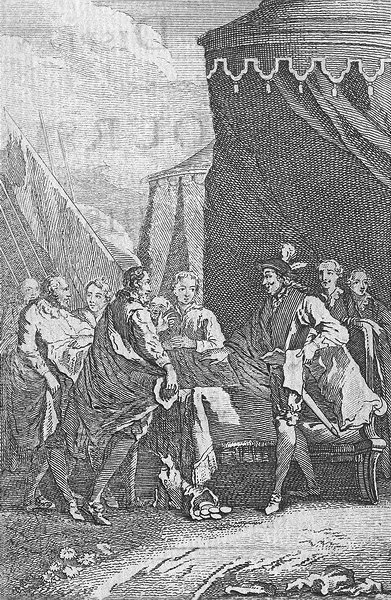SOCIETY. All mankind is dear to us 1763 old antique vintage print picture