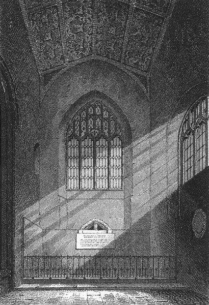 Associate Product SUFFOLK. St Edmunds Chapel, E Dereham Ch Norfolk 1808 old antique print