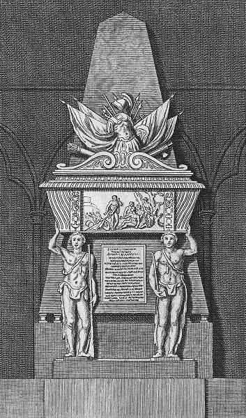 Associate Product MONUMENTS. Monument of ble Pieu. Roger, Townshend c1780 old antique print