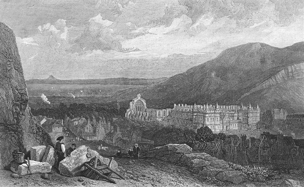 SCOTLAND. Holyrood Calton Hill c1835 old antique vintage print picture