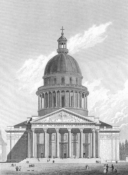Associate Product PARIS. Eglise De Ste Genevieve 1829 old antique vintage print picture