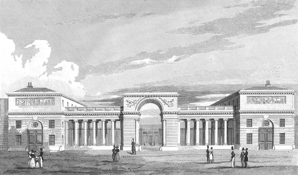 Associate Product PARIS. Palace of Legion Honour 1828 old antique vintage print picture