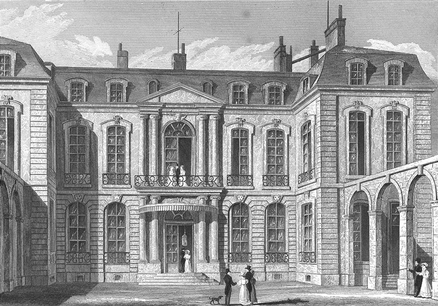 Associate Product PARIS. Hotel de L'ambassadeur D'angleterre. Pugin 1834 old antique print