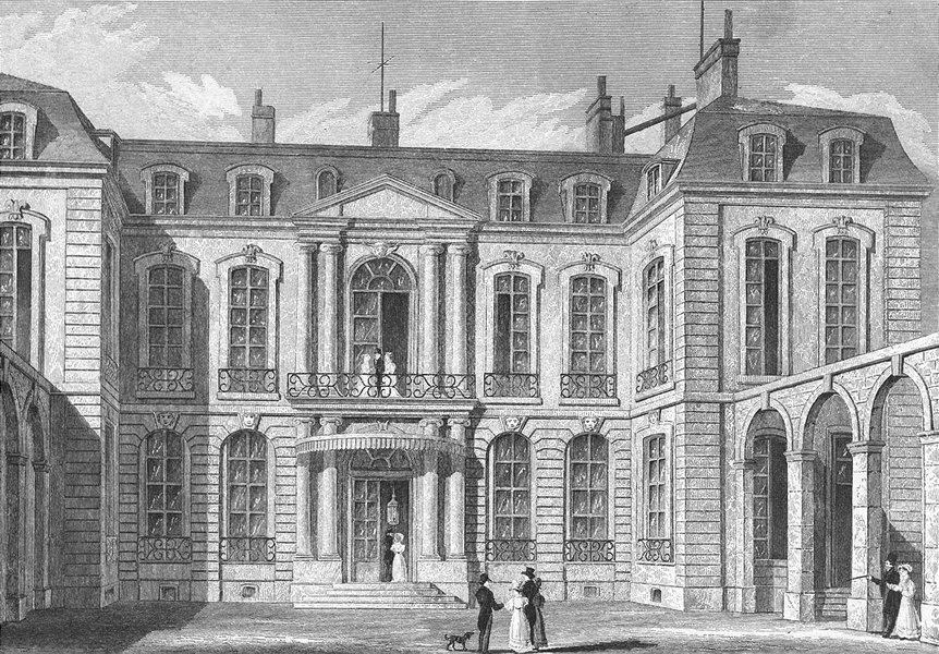 Associate Product PARIS. Hotel de L'ambassadeur D'angleterre. Pugin 1828 old antique print