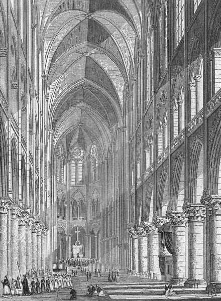 Associate Product PARIS. De Chapelle Val Grace. France. Pugin parade 1828 old antique print