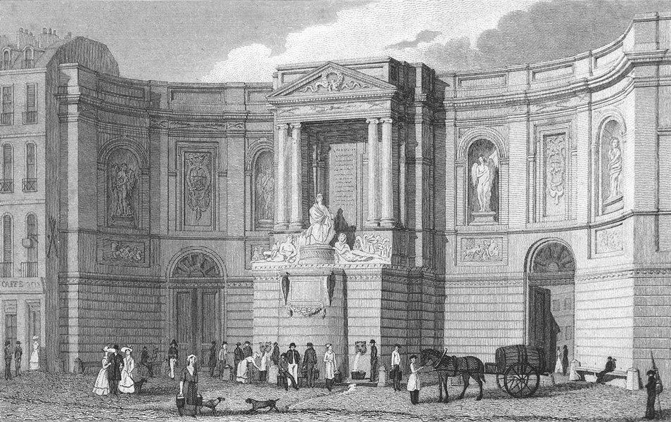 Associate Product PARIS. Fontaine des Quatres-Saisons Grenelle 1828 old antique print picture