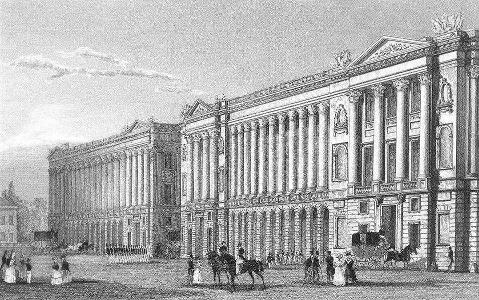Associate Product PARIS. Garde Meuble, Place de la Concorde 1834 old antique print picture