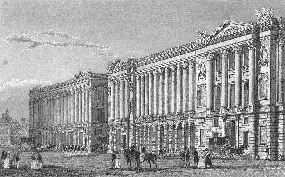 Associate Product PARIS. Garde Meuble, Place de la Concorde 1828 old antique print picture