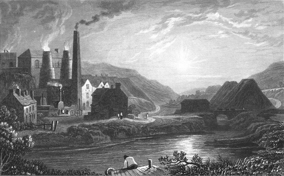 Associate Product MONMOUTHSHIRE. Coldbrook Vale. Gastineau Factory 1831 antique print