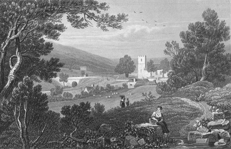 Associate Product ABERYSTWYTH. Blaenau Gwent, Monmouthshire. Monmouth  1831 old antique print