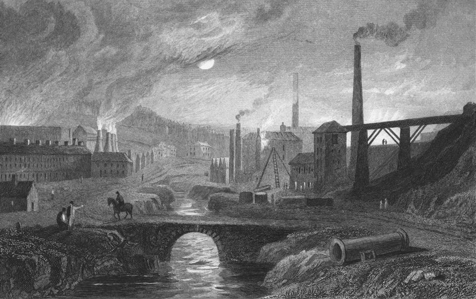Associate Product MONMOUTHSHIRE. Nant Glo. Gastineau iron works 1831 old antique print picture