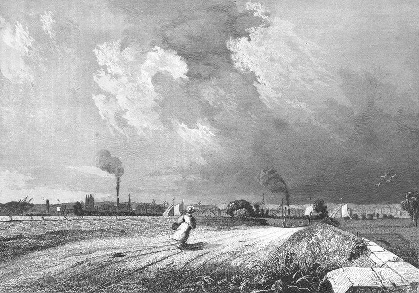 Associate Product LINCS. Gainsborough Retford Road. Saunders 1836 old antique print picture