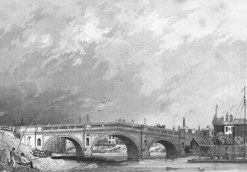 Associate Product LINCS. Gainsborough bridge. Saunders Barge 1836 old antique print picture