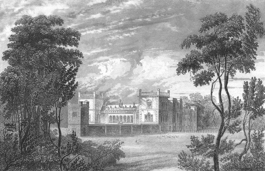 Associate Product LINCS. Grimsthorpe Castle. Saunders 1836 old antique vintage print picture
