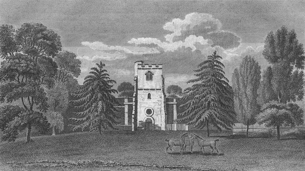 Associate Product LONDON. Little Stanmore. Hughson 1805 old antique vintage print picture