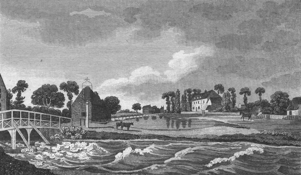 Associate Product LONDON. Enfield Wash. Mddx. Hughson 1805 old antique vintage print picture