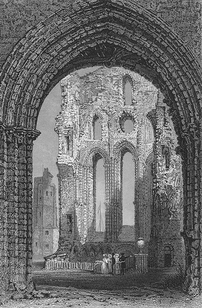 Associate Product NORTHUMBS. Tynemouth Priory & Castle. Allom. & ruins 1833 old antique print