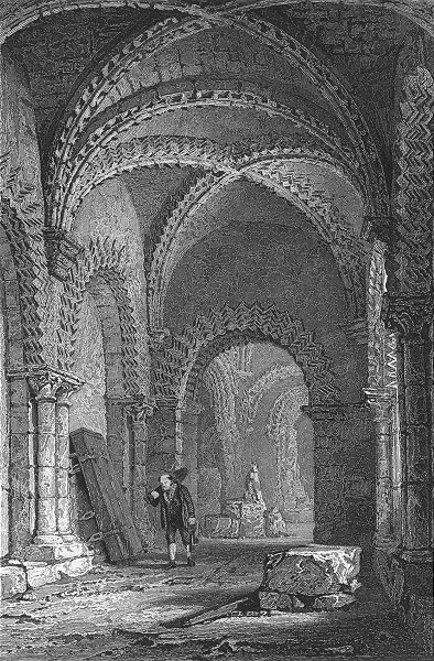 Associate Product BUILDINGS. Castle Chapel, Newcastle. NORTHUMBS Allom 1832 old antique print
