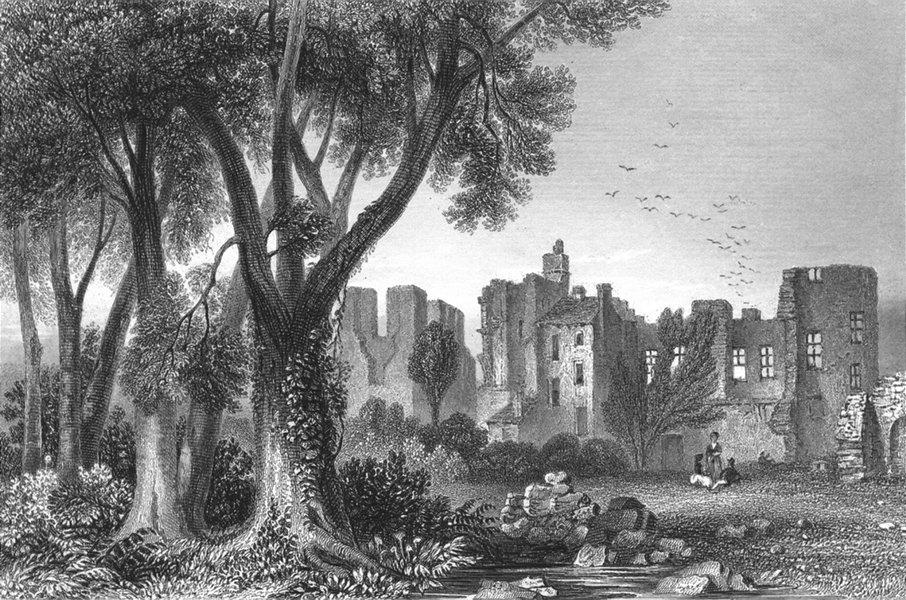 Associate Product LEICS. Leicester Abbey. Sargent 1854 old antique vintage print picture